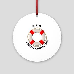 North Carolina - Duck Round Ornament