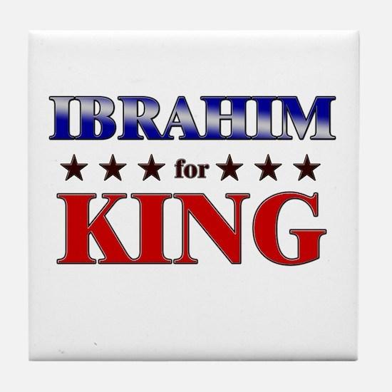 IBRAHIM for king Tile Coaster