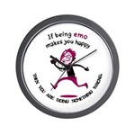 If being emo makes you happy Wall Clock