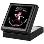 If being emo makes you happy Keepsake Box