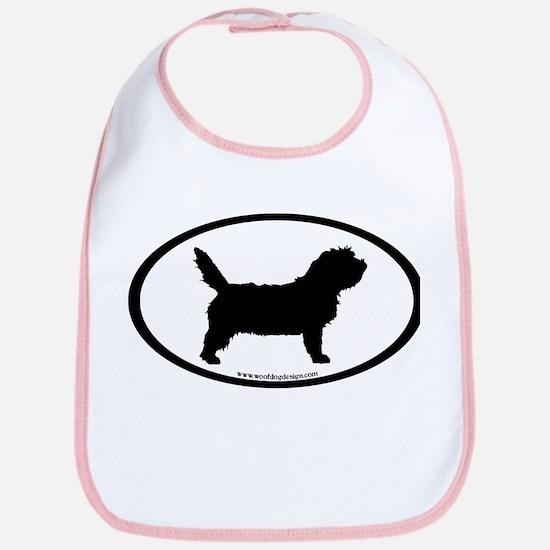 PBGV Dog Oval Bib