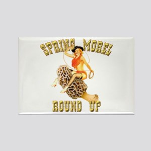spring morel round up Rectangle Magnet