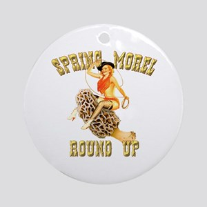 spring morel round up Ornament (Round)