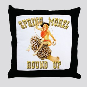spring morel round up Throw Pillow