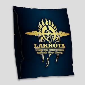 Lakhota Burlap Throw Pillow
