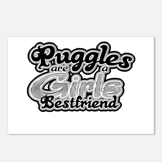 Puggles are a girls bestfrien Postcards (Package o