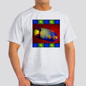 Fish Flowers Red Yellow Blue T-Shirt