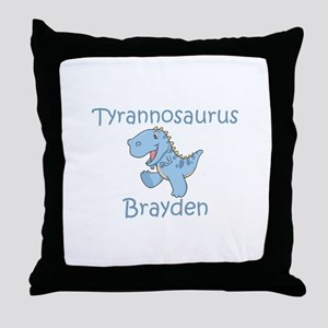 Tyrannosaurus Brayden Throw Pillow