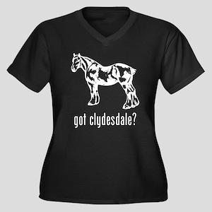 Clydesdale Women's Plus Size V-Neck Dark T-Shirt
