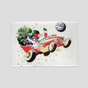 Holiday Hot Rod Rectangle Magnet (10 pack)