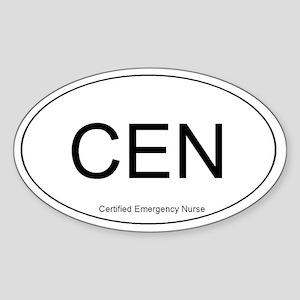 Emergency Nurse Oval Sticker