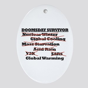 Doomsday Survivor Oval Ornament