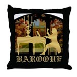 Baroque Harpsichord Throw Pillow