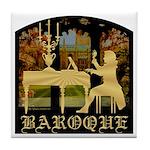 Baroque Harpsichord Tile Coaster