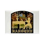 Baroque Harpsichord Rectangle Magnet