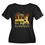 Baroque Harpsichord Women's Plus Size Scoop Neck D
