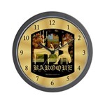 Baroque Harpsichord Wall Clock