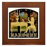 Baroque Harpsichord Framed Tile