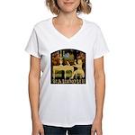 Baroque Harpsichord Women's V-Neck T-Shirt