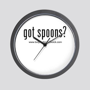 """Got Spoons?"" Wall Clock"