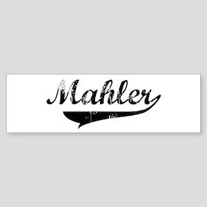 Mahler (vintage) Bumper Sticker