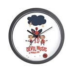 Devil Music Is Number One Wall Clock