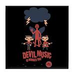 Devil Music Is Number One Tile Coaster