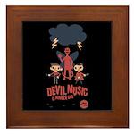 Devil Music Is Number One Framed Tile