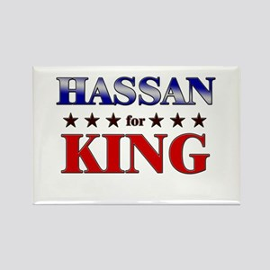 HASSAN for king Rectangle Magnet