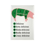 Delicious Pig Rectangle Magnet (10 pack)