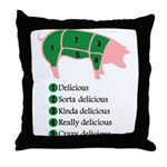 Delicious Pig Throw Pillow