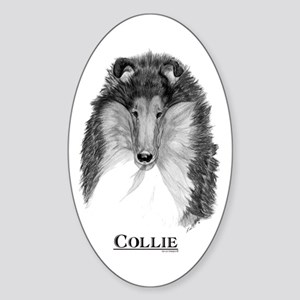 Collie Dog Breed Oval Sticker