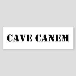 """Cave Canem """"Beware of Dog"""" Bumper Sticker"""