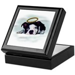 BOSTON TERRIER ANGEL LOOK Keepsake Box