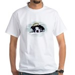 BOSTON TERRIER ANGEL LOOK White T-Shirt