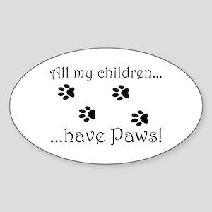 Kitty Kids Oval Sticker