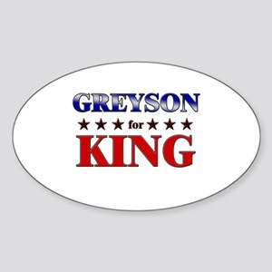 GREYSON for king Oval Sticker