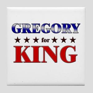 GREGORY for king Tile Coaster