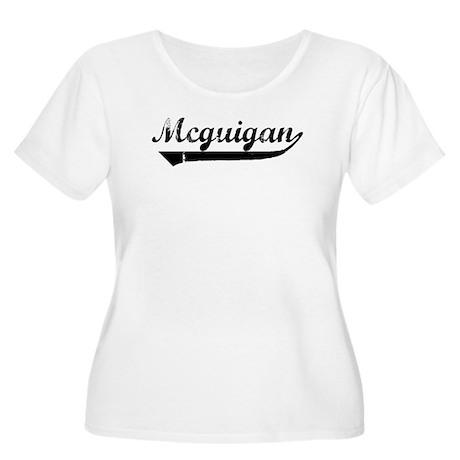Mcguigan (vintage) Women's Plus Size Scoop Neck T-