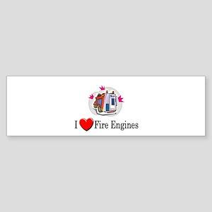 I Love Fire Engines Bumper Sticker