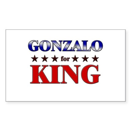 GONZALO for king Rectangle Sticker
