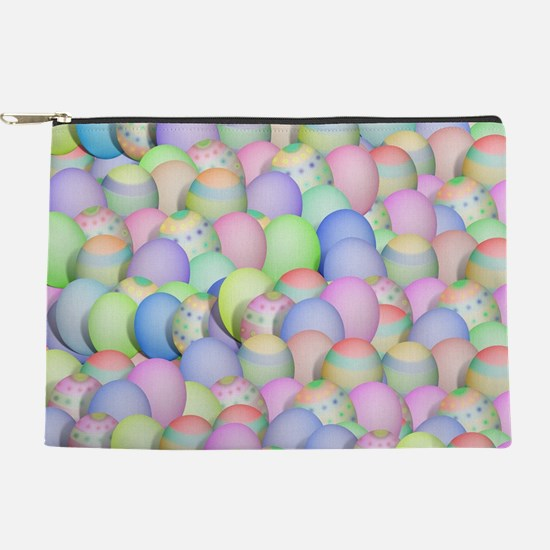 Pastel Colored Easter Eggs Makeup Bag