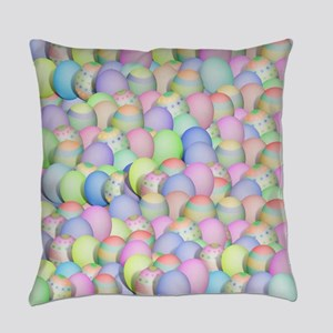 Pastel Colored Easter Eggs Everyday Pillow