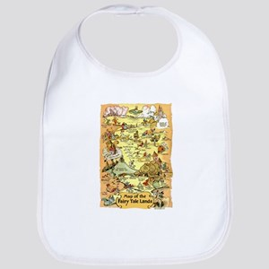 Map of the Fairy Tale Lands Baby Bib