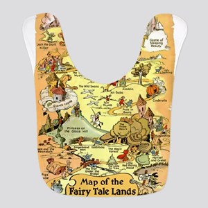 Map of the Fairy Tale Lands Polyester Baby Bib