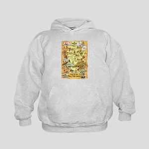 Map of the Fairy Tale Lands Sweatshirt