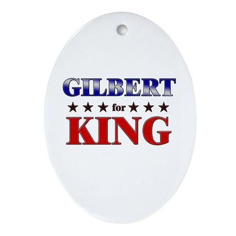 GILBERT for king Oval Ornament