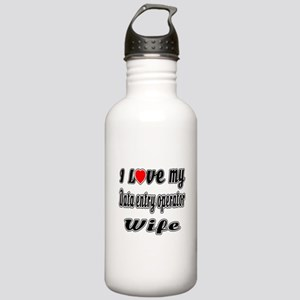 I Love My DATA ENTRY O Stainless Water Bottle 1.0L
