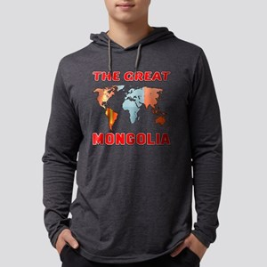 The Great Mongolia Designs Mens Hooded Shirt