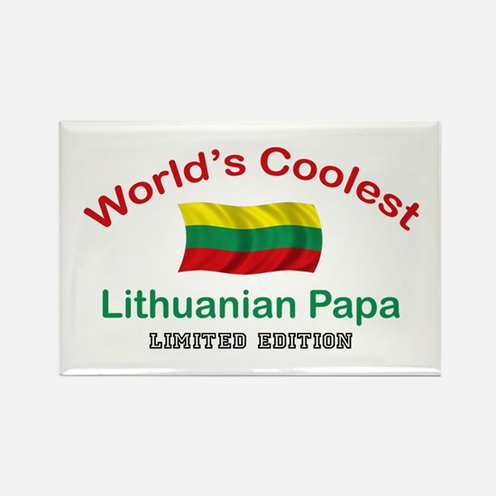 Coolest Lithuanian Papa Rectangle Magnet